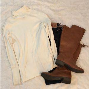 Worthington Creme Turtleneck Sweater Size S